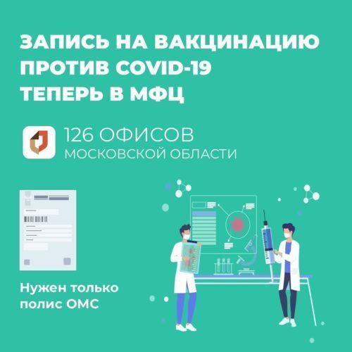 Запись на вакцинация в МФЦ